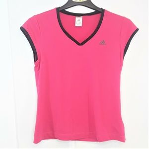 Adidas Climalite Active Wear Shirt Womens Pink